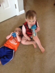 Cale and Gabe sippy cups