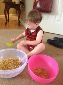 Cale Playing During Potty Training Day 2